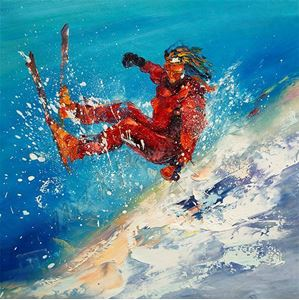 Picture of Sport - Skiing - Skier Downhill Scene - O016