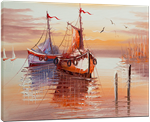 Picture of Seascapes - Fishing Boats - O082