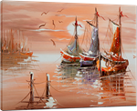 Picture of Seascapes - Fishing Boats - O080