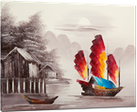 Picture of Landscapes - Chinese Junk Boat - O087